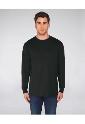 T-shirt éthique en coton bio, fibres recyclées, manches longues. Un basique indispensable !