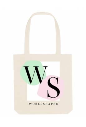 Tote bag éthique en coton WS comme WORLDSHAPER