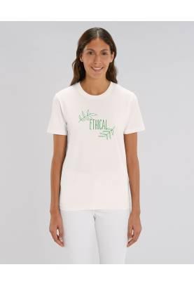 Tshirt bio Ethical, modèle jeune créateur