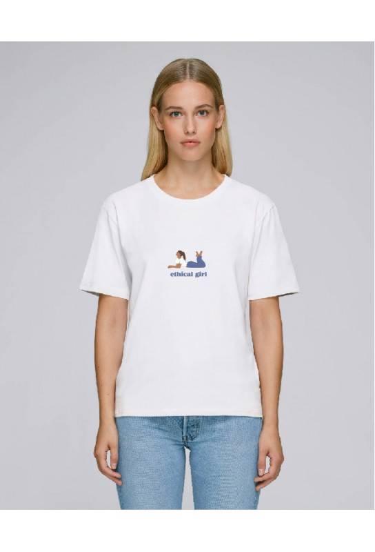 Tshirt femme éthique en coton bio modèle jeune créatrice