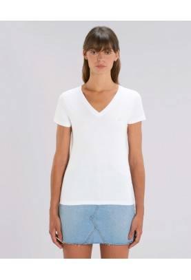 Tshirt éthique manches courtes col en V en coton bio basique et durable
