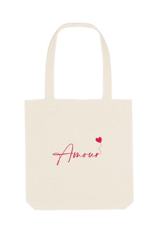 Tote bag éthique 100% recyclé Amour