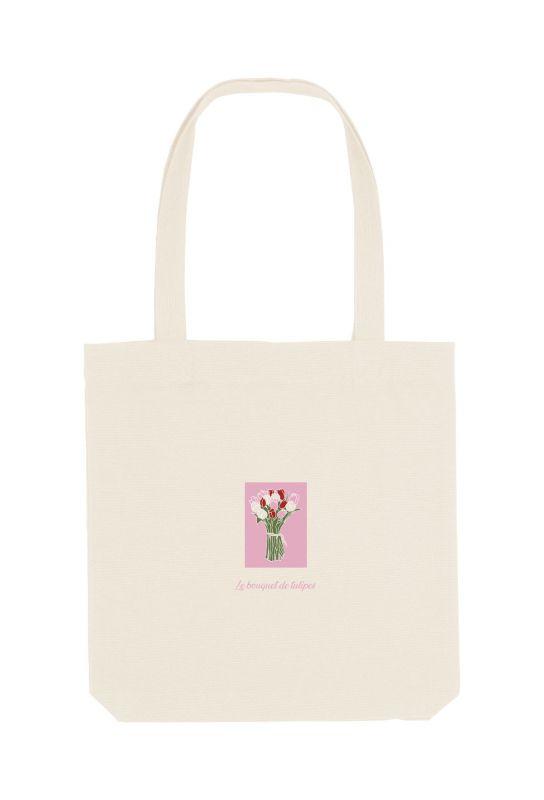 Tote bag éthique 100% recyclé Tulipes