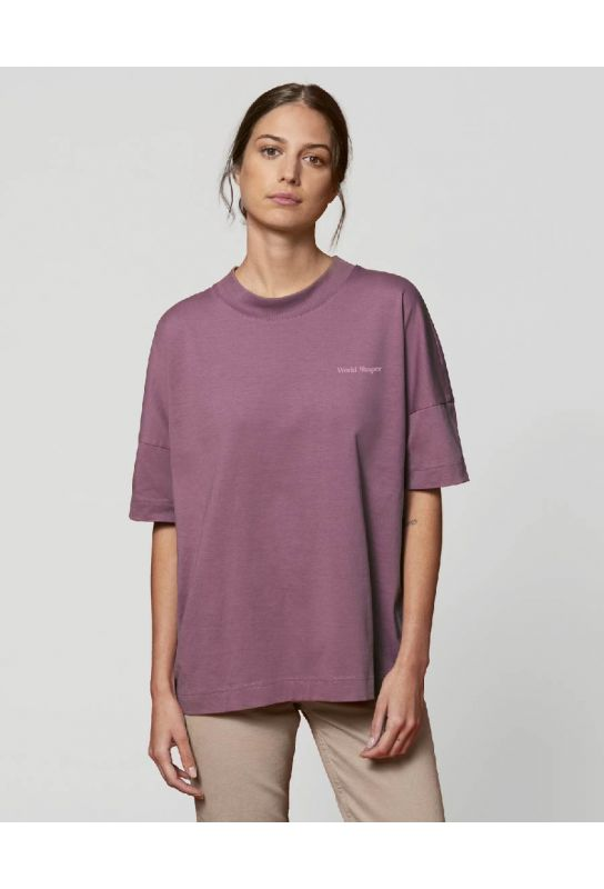 T shirt éthique oversize femme en coton bio