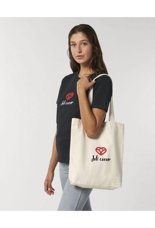 Tote bag éthique 100% recyclé Joli Coeur