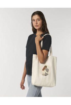 """Tote bag éthique en coton bio """"Toi et Moi"""""""